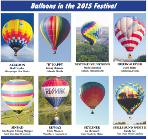 Crown of Maine Balloon Festival Participants