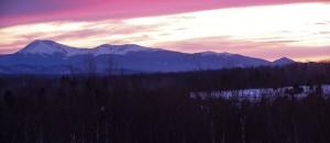Mt. Katahdin Maine Sunset