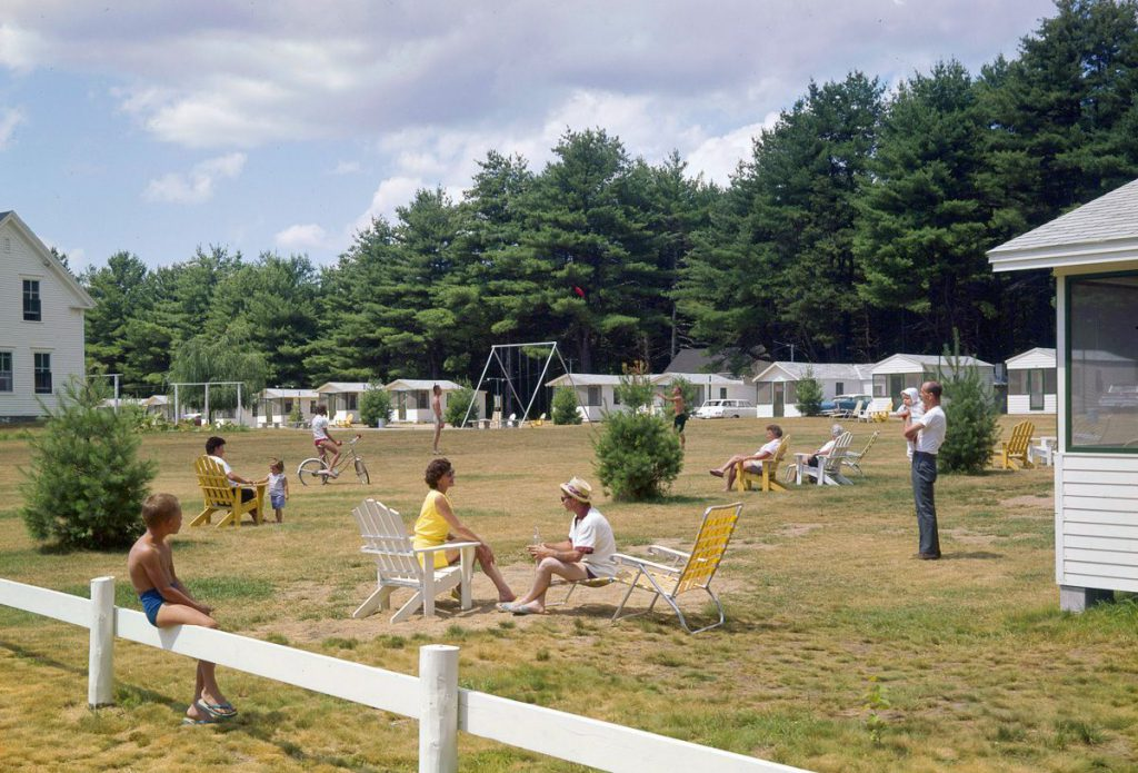 Vacationers at Paul's Cabins resort in Old Orchard Beach. IMAGE: ALADDIN COLOR INC/GETTY IMAGES