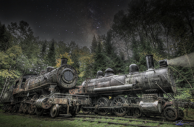 Maine Lost Locomotives and Stars