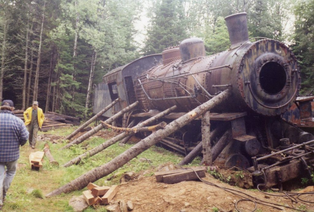 maine lost railroad leaning locomotive